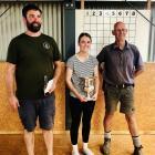 Winner of the Central Otago Merino Junior Judging Day at Earnscleugh Station, Samantha Harmer, of...