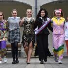 St Hilda's Collegiate School pupils (from left) Molly McKenzie (15), Alice Graham (12), Emily...