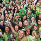 Students living in Castle St had an early start yesterday as they celebrated St Patrick's Day....