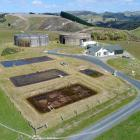 The Waikouaiti water treatment plant, raw water reservoir, and treated water reservoir.