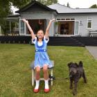 Bella Brough and her dog Winston, of Dunedin, as Dorothy and Toto from The Wizard of Oz. PHOTO:...