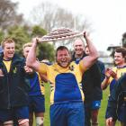 Valley forward Logan Dunlop is all smiles after his side won the Citizens Shield last year. PHOTO...