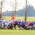 Star and Woodlands play out a contested scrum at Woodlands in a game earlier this month. PHOTO:...