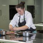 Ashley Knudsen cooks her finals dish. PHOTOS: SUPPLIED