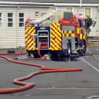 Emergency services respond to a suspicious fire at Bathgate Park School, in Macandrew Rd, South...
