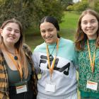 Representing the Otago and Southland regions are (from left) Southland Girls' High School year 13...