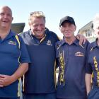 The victorious Dunedin Centre men's champion of champions team (from left): Peter Culling, Steve...
