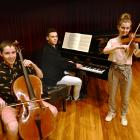 Concerto competition finalists (from left) Boudewijn Keenan, Abhinath Berry and Rose Stevenson...