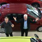 Cooke Howlison technician Garry Ferguson (left) and new vehicle consultant Neil Steel say...