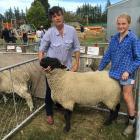 Annabel Tripp and her daughter Georgie Veronese (14) were thrilled to win supreme champion sheep...
