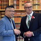 Digital Council for Aotearoa New Zealand chairman Mitchell Pham (left) and Digital Economy and...