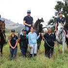 In the saddle ... Waitaki Mayor Gary Kircher (centre on horse) enjoys a day out with the Waitaki...