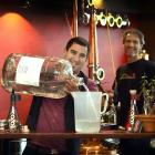 Julien Delavoie (left) and Michael Wilson in the No8 Distillery in the window of Dog With Two...