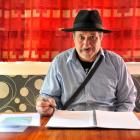 Dunedin playwright and producer Haki Davis makes final edits to the script of his first play The...