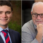 Taxpayers' Union spokesperson Jordan Williams and Hamilton City Councillor, Dave Macpherson....