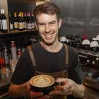 Barista Ed Carvell works at Town Tonic in Addington. Photo: Geoff Sloan