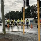 Fire and Emergency New Zealand personnel at the scene in Invercargill. Photo: Abbey Palmer