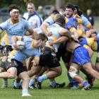 Taieri prop Tom Hill evades the tackle of University's Ricky Jackson during a premier game at...