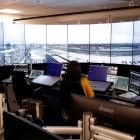Planes at London City Airport take off and land guided by air traffic controllers based 144km...