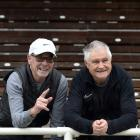 Lindsay Dey (left) and Bruce Beath, of the 1971 University of Otago Lovelock Relays senior men's...
