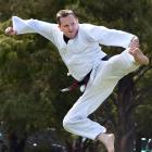 Matt Sara, who wants to prove he is worthy of a taekwondo black belt. PHOTO: PETER MCINTOSH