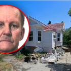 A picture of David Hart, who is the subject of a homicide investigation, with the Mt Eden house...