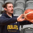 Otago Nuggets import Geremy McKay makes his first appearance at an Otago Nuggets training session...