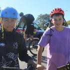 Invercargill youngsters Kye Ripley (left) and Aden Dougherty were riding their bikes at James...