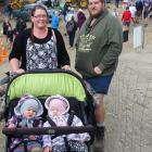Danielle and Willy Duncan, of Gore, with twins Oliver and Isabelle Duncan (13 months) at the...