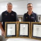 Winners of three separate prizes from 2021 NZ Master Joiners Awards Hamish Kane and Gary Firman...