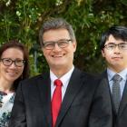 Dr Huong Dang, Professor Jedrzej Bialkowski and Dr Xiapeng Wei. Photo: UC