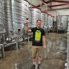 Te Kano winemaker and general manager Dave Sutton with a drop of red, freshly produced at the...