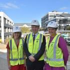 Taieri MP Ingrid Leary, Education Minister Chris Hipkins, and Otago Polytechnic chief executive...