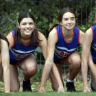 The under-15 Queen's High School 4x100m relay team of (from left) Molly Goldsmith (13), Sarah...