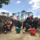 University of Otago researchers carry out an archaeological study on unmarked graves at the...