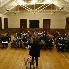 The Dunedin RSA Choir rehearses last night at the Caversham Presbyterian Church's Sidey Hall. The...