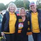 Invercargill auction winner Donna Parker (centre) with team Bad Bananas drivers Barbara and...