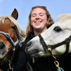 Popular ponies Ruger (left) and Pepper enjoy a break from giving rides to children with owner...