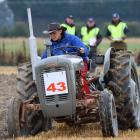 Riley Hill concentrates on driving straight in the contemporary event at the New Zealand...