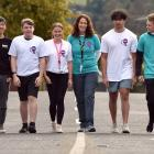 Students Against Dangerous Driving (Sadd) national conference attendees are (from left) St Kevin...