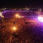 The historic first concert to be held at Eden Park is sold out with 50,000 people in attendance....