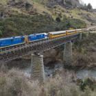 A Dunedin Railways train crosses the Taieri River at Hindon. Photo: Gerard O'Brien.