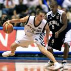 Tall Blacks point guard Mark Dickel, these days domiciled in the United States, eludes Panama's...