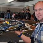 Ashburton RC Club's Steve Kyles with his remote control car which featured during an RC drifting...