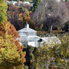 Autumn colours ring Dunedin Botanic Garden's Winter Garden Glasshouse. PHOTO: SUPPLIED