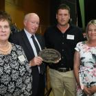 The Bathgate family of Taieri, were honoured with a sesquicentennial award at the Century Farm...