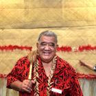 Samoan Advisory Council chairman Afamasaga Pavihi is joined by treasurer Saatele Fa'atoese (left)...