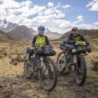 Mark Watson (right) and Hana Black, of Lyttelton, spent four years cycling from Alaska all the...