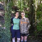 Jo Newton and her son Daniel enjoy being in their backyard in the sunshine after the 14-year-old...