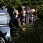 David McPhail's son Matt farewells his father in Christchurch today. Photo: NZ Herald